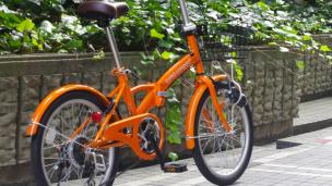 収納に便利な折りたたみ自転車