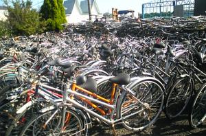 ごみ処理場に自転車持ち込み