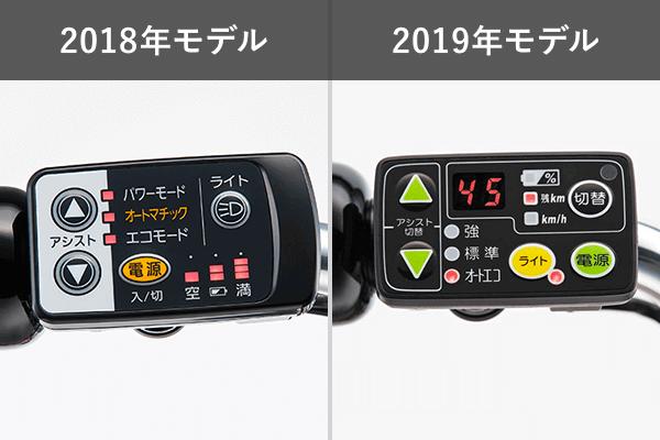 2018年モデルと2019年モデルの違い